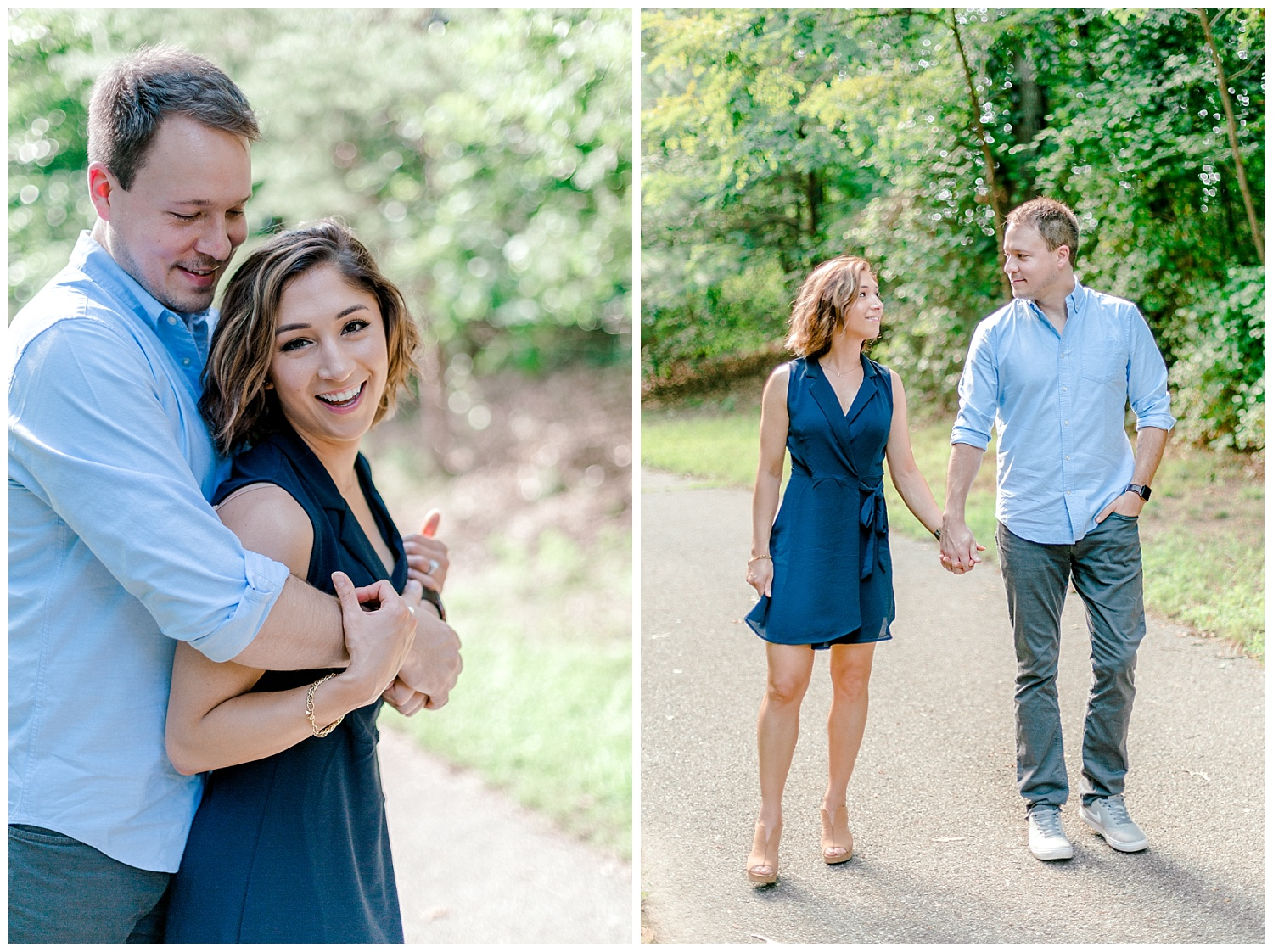Wooded sunny Summertime engagement session in Odenton Maryland by Pennsylvania based wedding and lifestyle photographer Lytle photography_0004.jpg