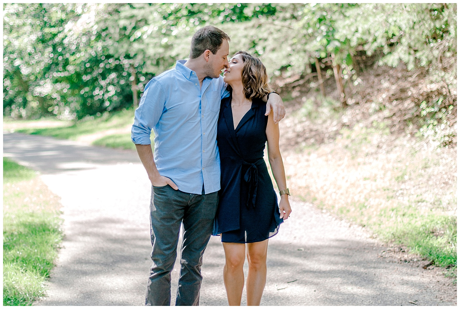 Wooded sunny Summertime engagement session in Odenton Maryland by Pennsylvania based wedding and lifestyle photographer Lytle photography_0005.jpg