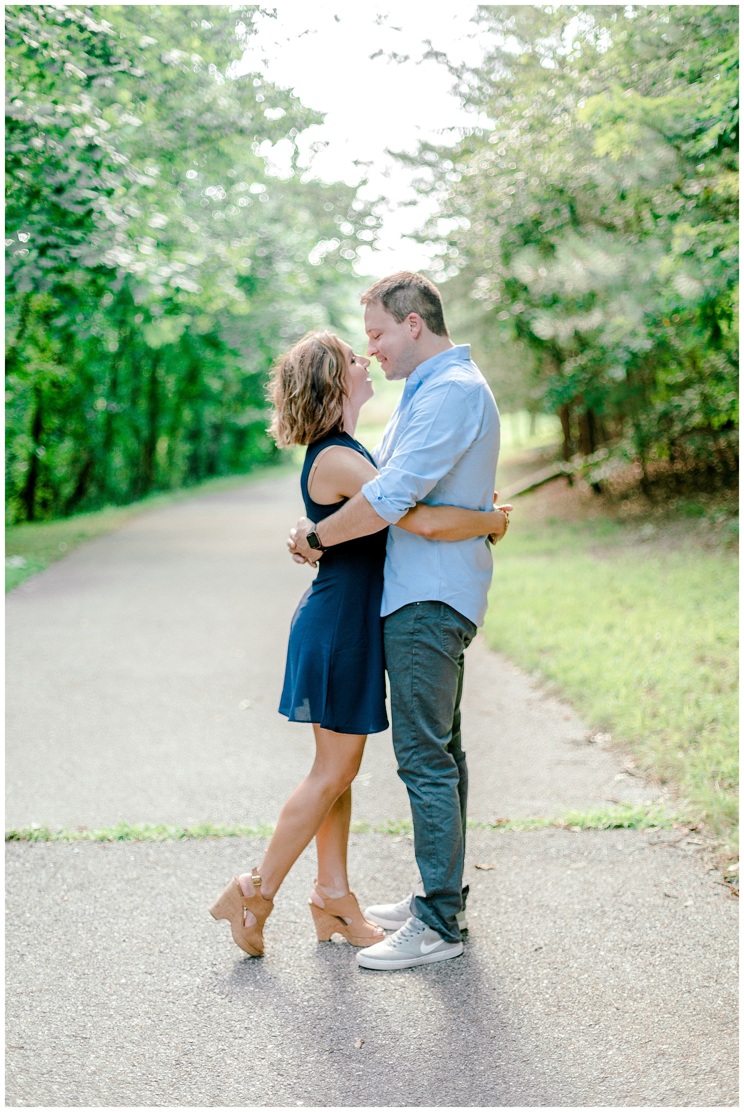 Wooded sunny Summertime engagement session in Odenton Maryland by Pennsylvania based wedding and lifestyle photographer Lytle photography_0002.jpg