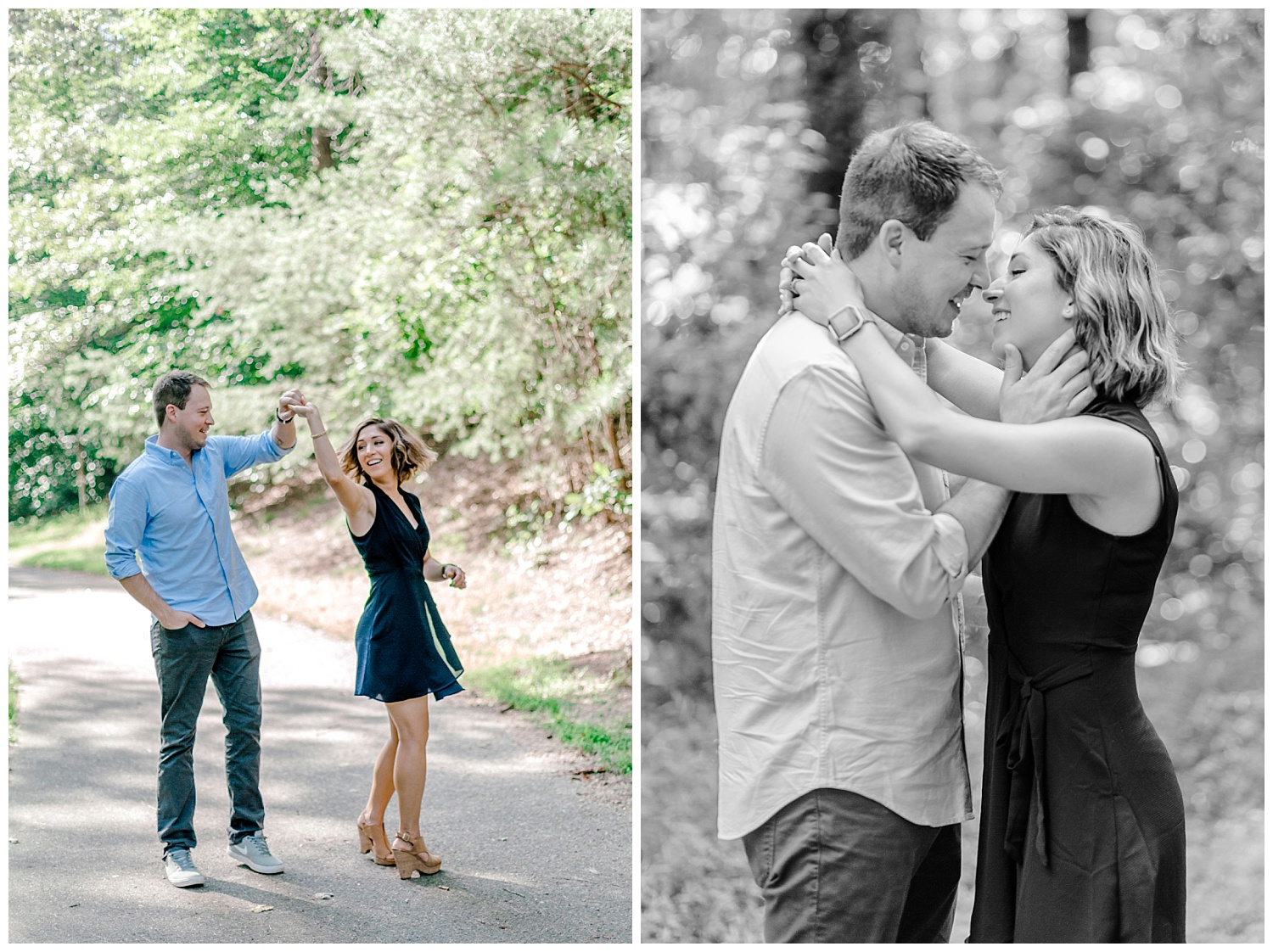 Wooded sunny Summertime engagement session in Odenton Maryland by Pennsylvania based wedding and lifestyle photographer Lytle photography_0006.jpg