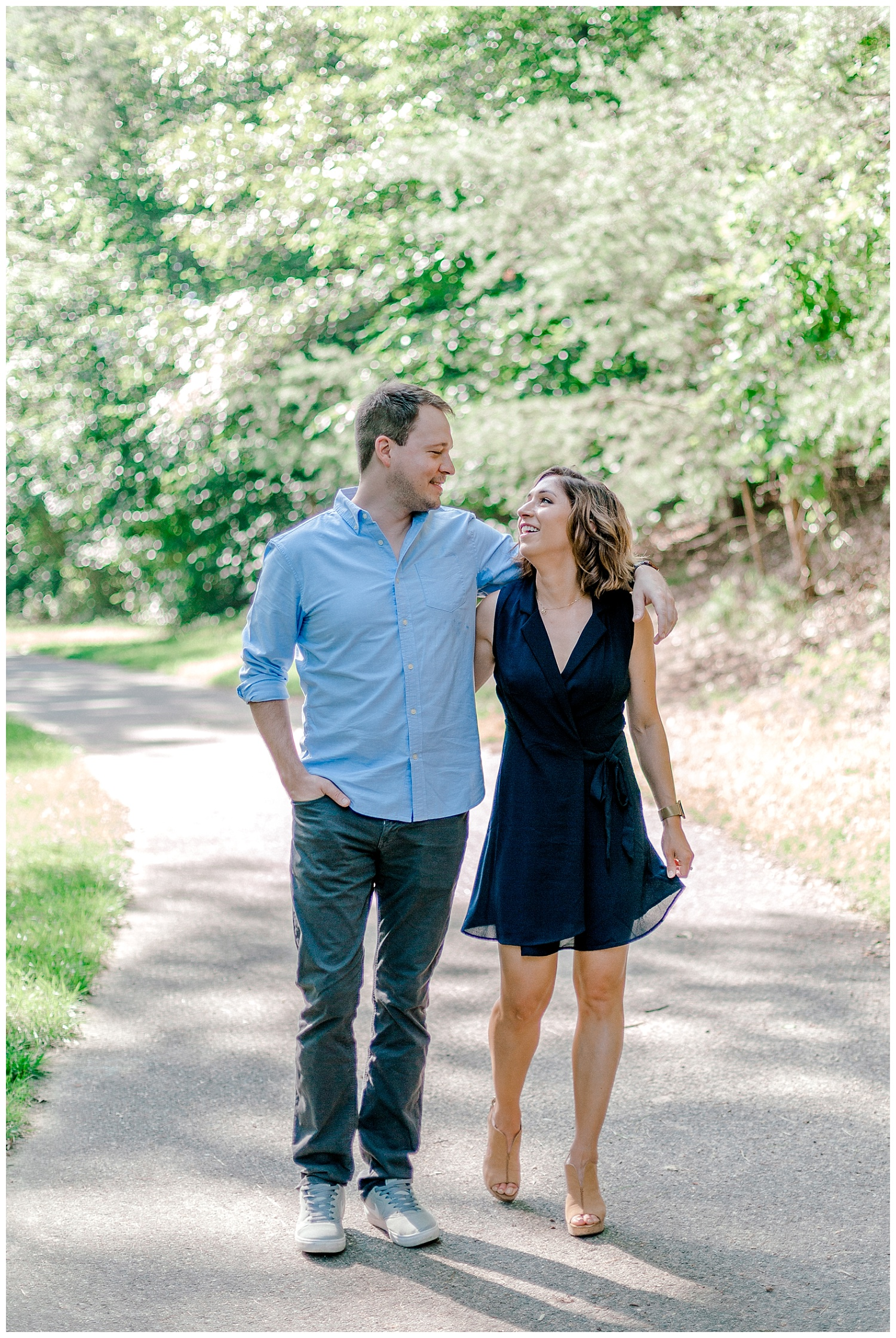Wooded sunny Summertime engagement session in Odenton Maryland by Pennsylvania based wedding and lifestyle photographer Lytle photography_0007.jpg