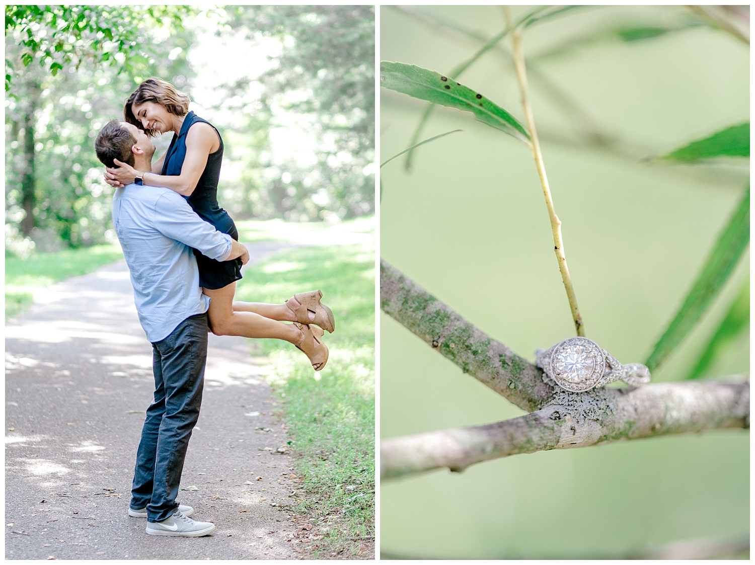 Wooded sunny Summertime engagement session in Odenton Maryland by Pennsylvania based wedding and lifestyle photographer Lytle photography_0008.jpg