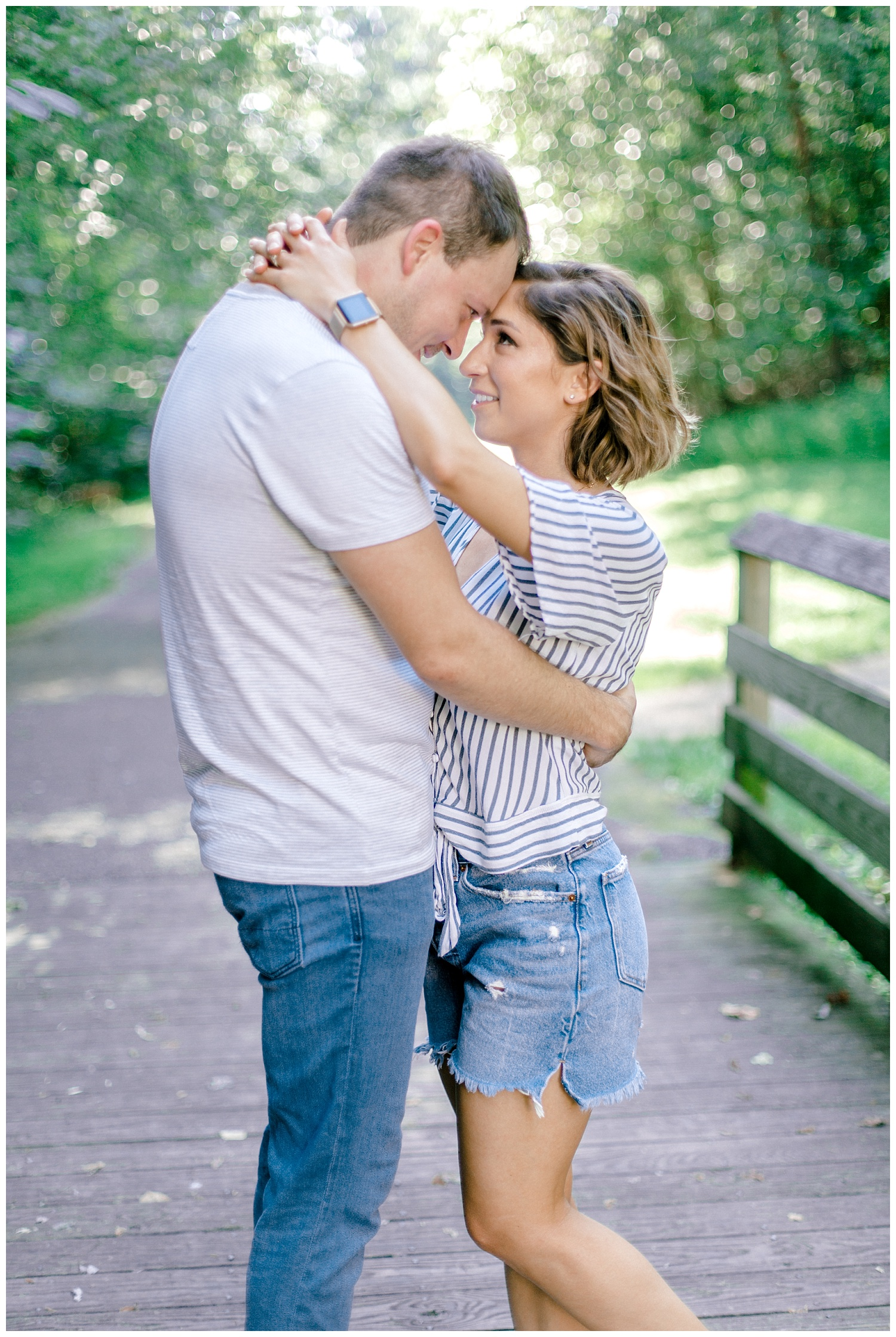 Wooded sunny Summertime engagement session in Odenton Maryland by Pennsylvania based wedding and lifestyle photographer Lytle photography_0010.jpg