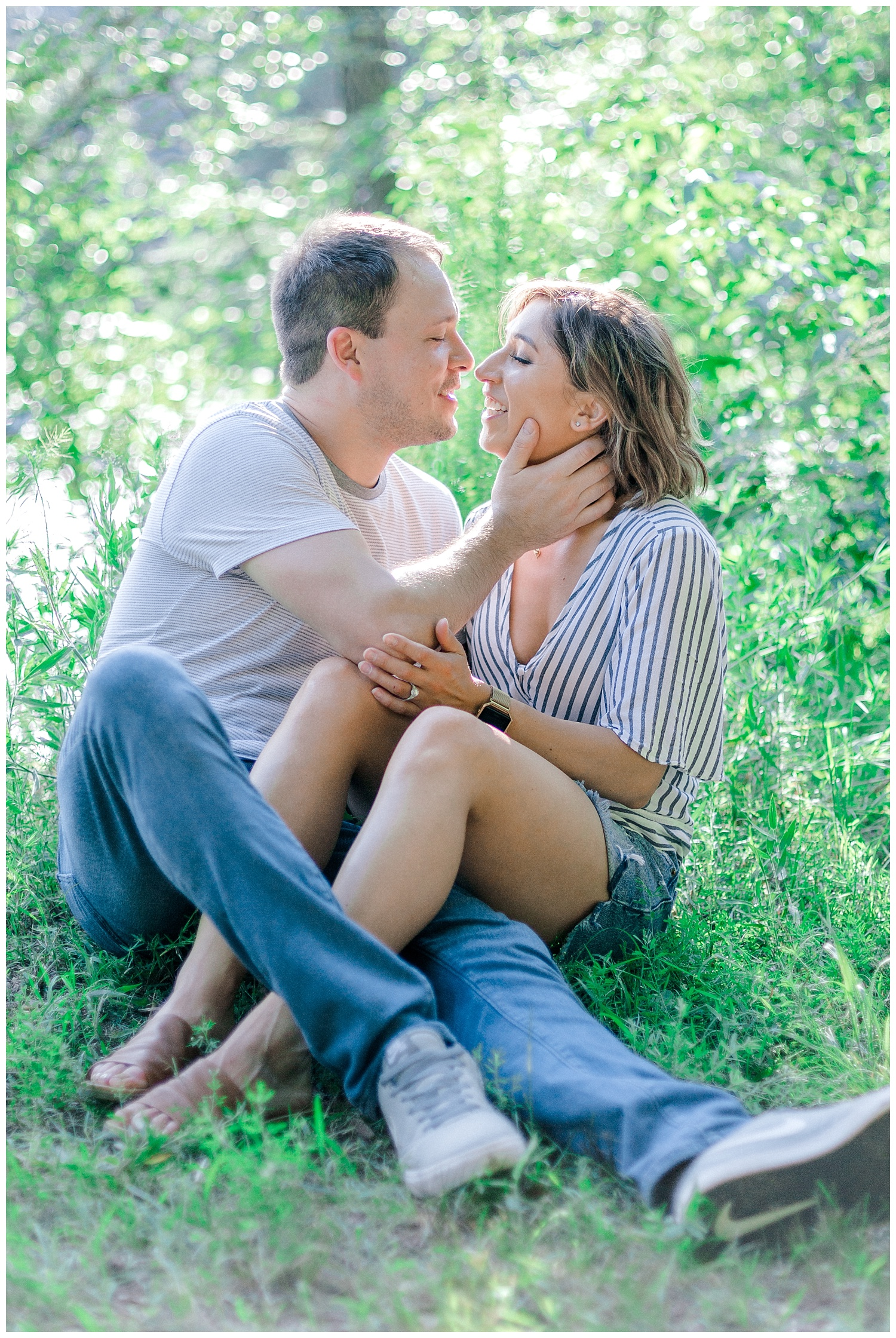 Wooded sunny Summertime engagement session in Odenton Maryland by Pennsylvania based wedding and lifestyle photographer Lytle photography_0013.jpg