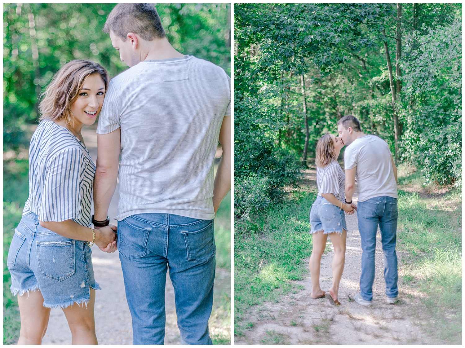 Wooded sunny Summertime engagement session in Odenton Maryland by Pennsylvania based wedding and lifestyle photographer Lytle photography_0015.jpg