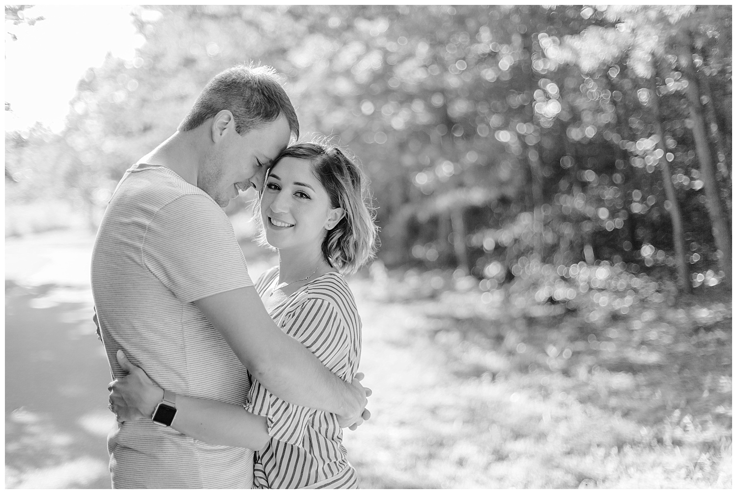 Wooded sunny Summertime engagement session in Odenton Maryland by Pennsylvania based wedding and lifestyle photographer Lytle photography_0016.jpg