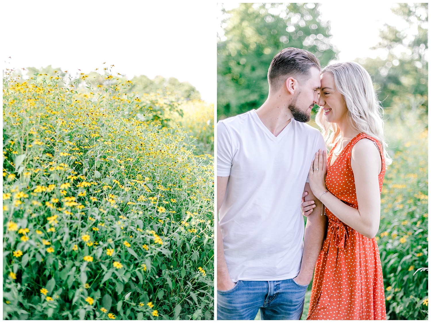 Blue Marsh Lake Reading Pennsylvania flower field golden hour engagement session by PA based wedding and lifestyle photographer Lytle photography_0001.jpg