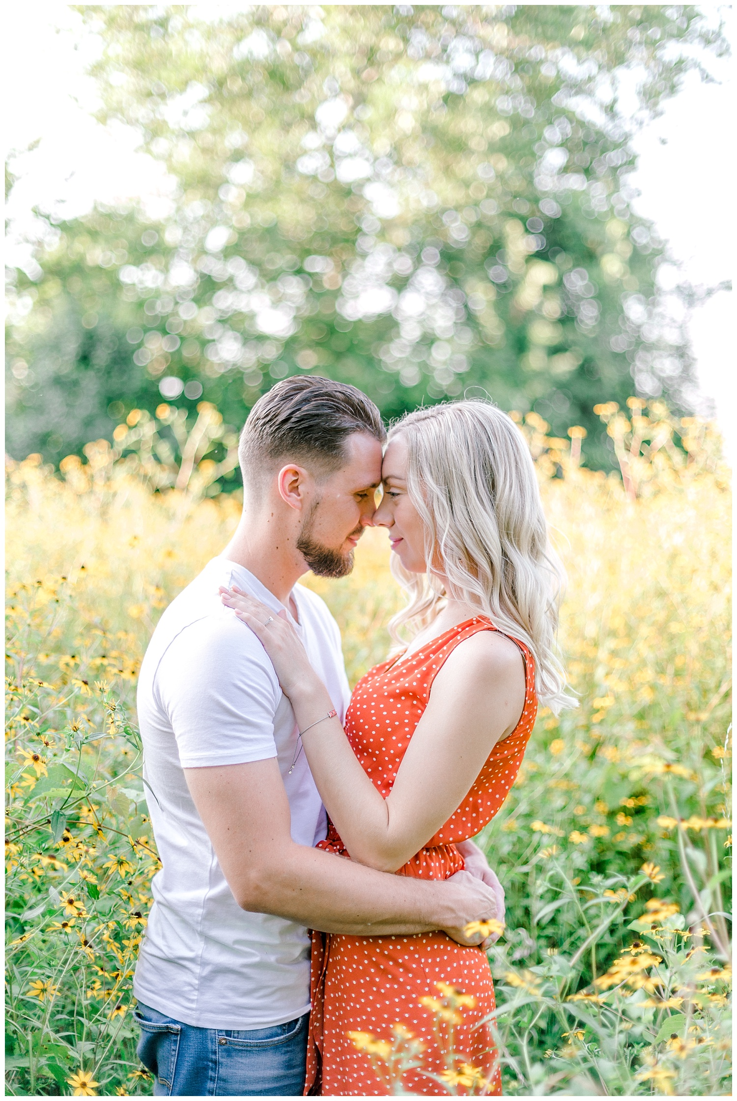 Blue Marsh Lake Reading Pennsylvania flower field golden hour engagement session by PA based wedding and lifestyle photographer Lytle photography_0008.jpg