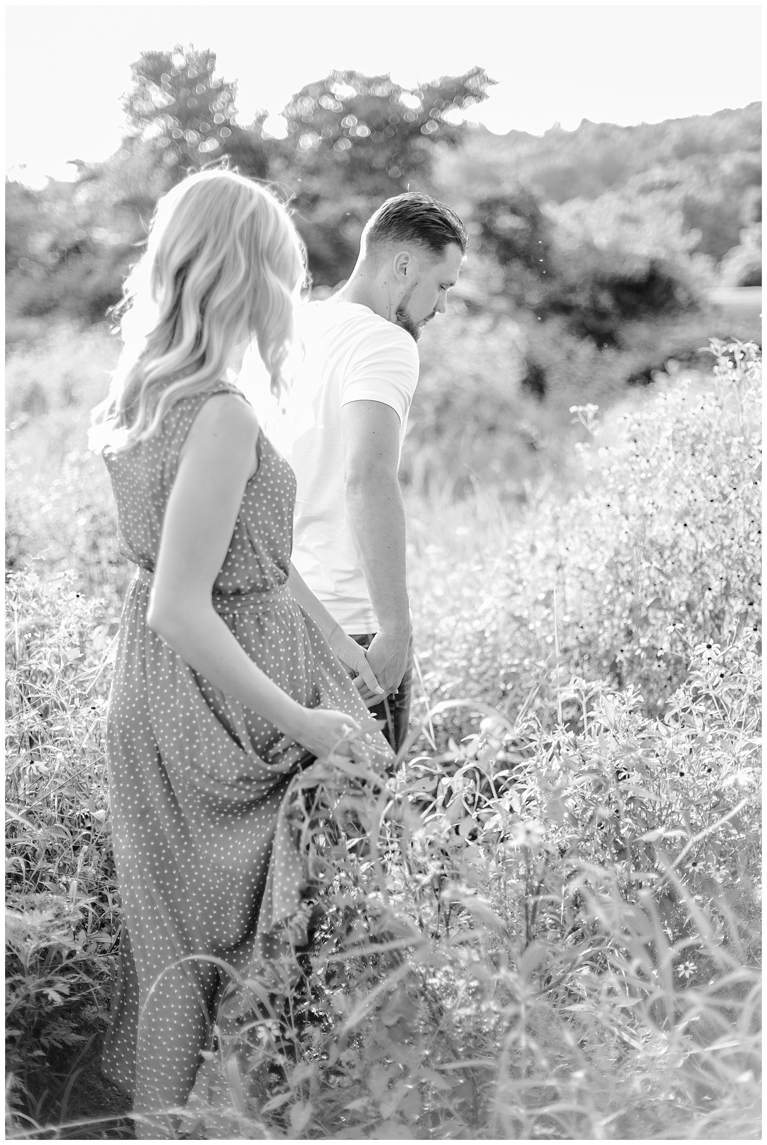 Blue Marsh Lake Reading Pennsylvania flower field golden hour engagement session by PA based wedding and lifestyle photographer Lytle photography_0014.jpg