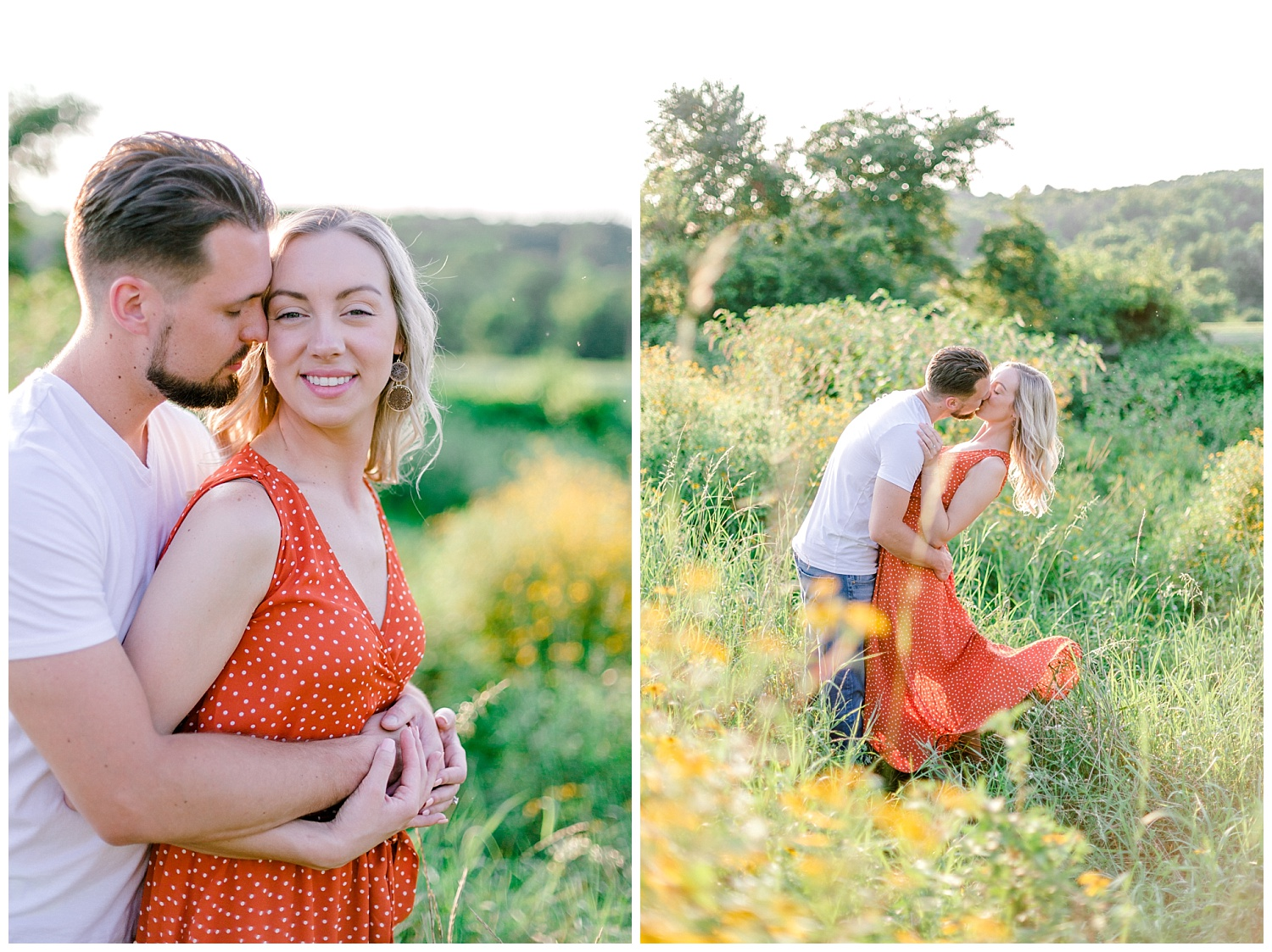 Blue Marsh Lake Reading Pennsylvania flower field golden hour engagement session by PA based wedding and lifestyle photographer Lytle photography_0017.jpg