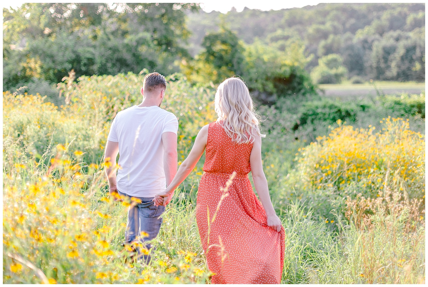 Blue Marsh Lake Reading Pennsylvania flower field golden hour engagement session by PA based wedding and lifestyle photographer Lytle photography_0016.jpg