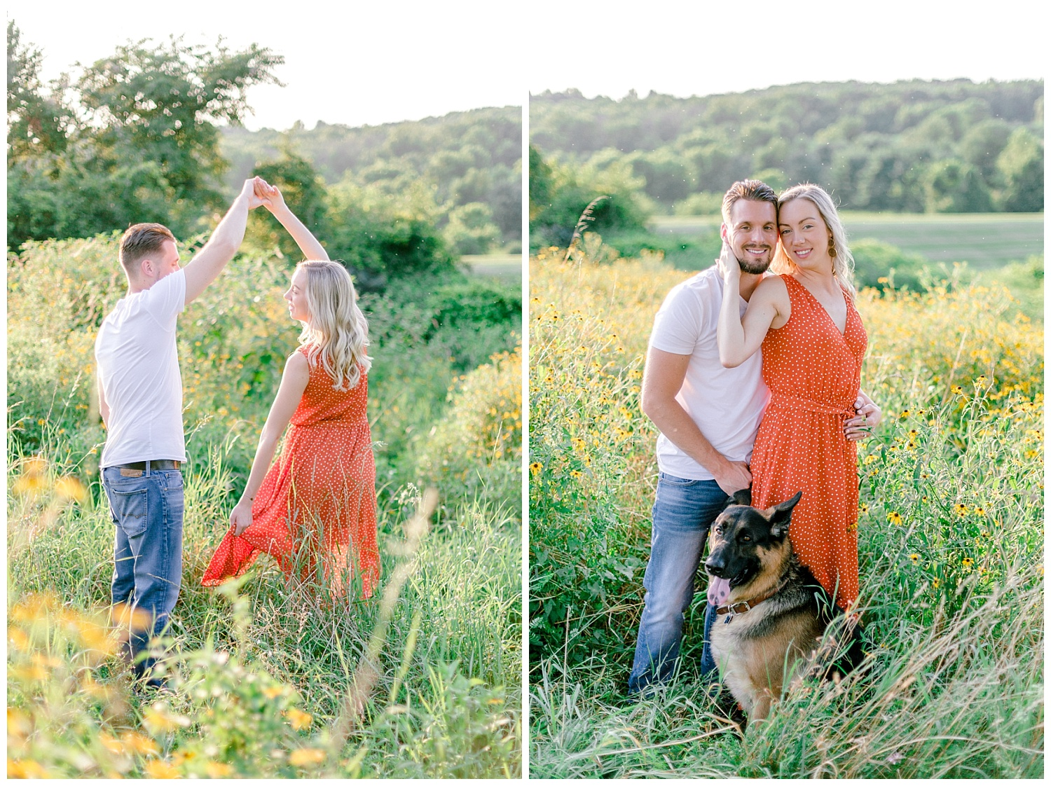 Blue Marsh Lake Reading Pennsylvania flower field golden hour engagement session by PA based wedding and lifestyle photographer Lytle photography_0018.jpg