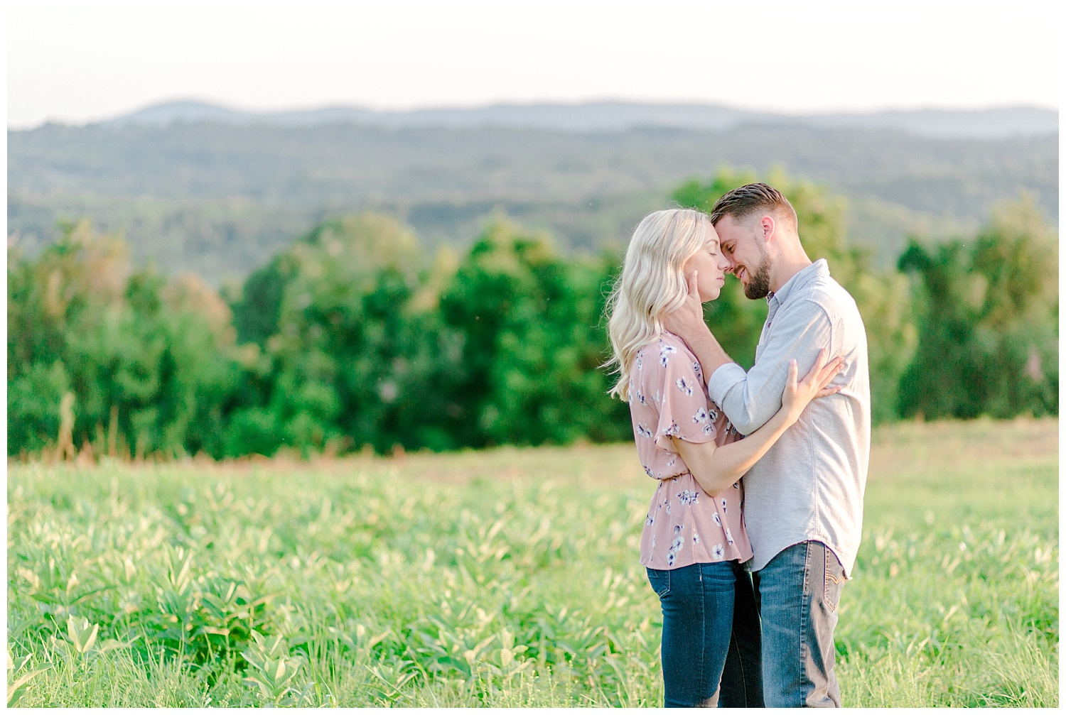 Blue Marsh Lake Reading Pennsylvania flower field golden hour engagement session by PA based wedding and lifestyle photographer Lytle photography_0021.jpg
