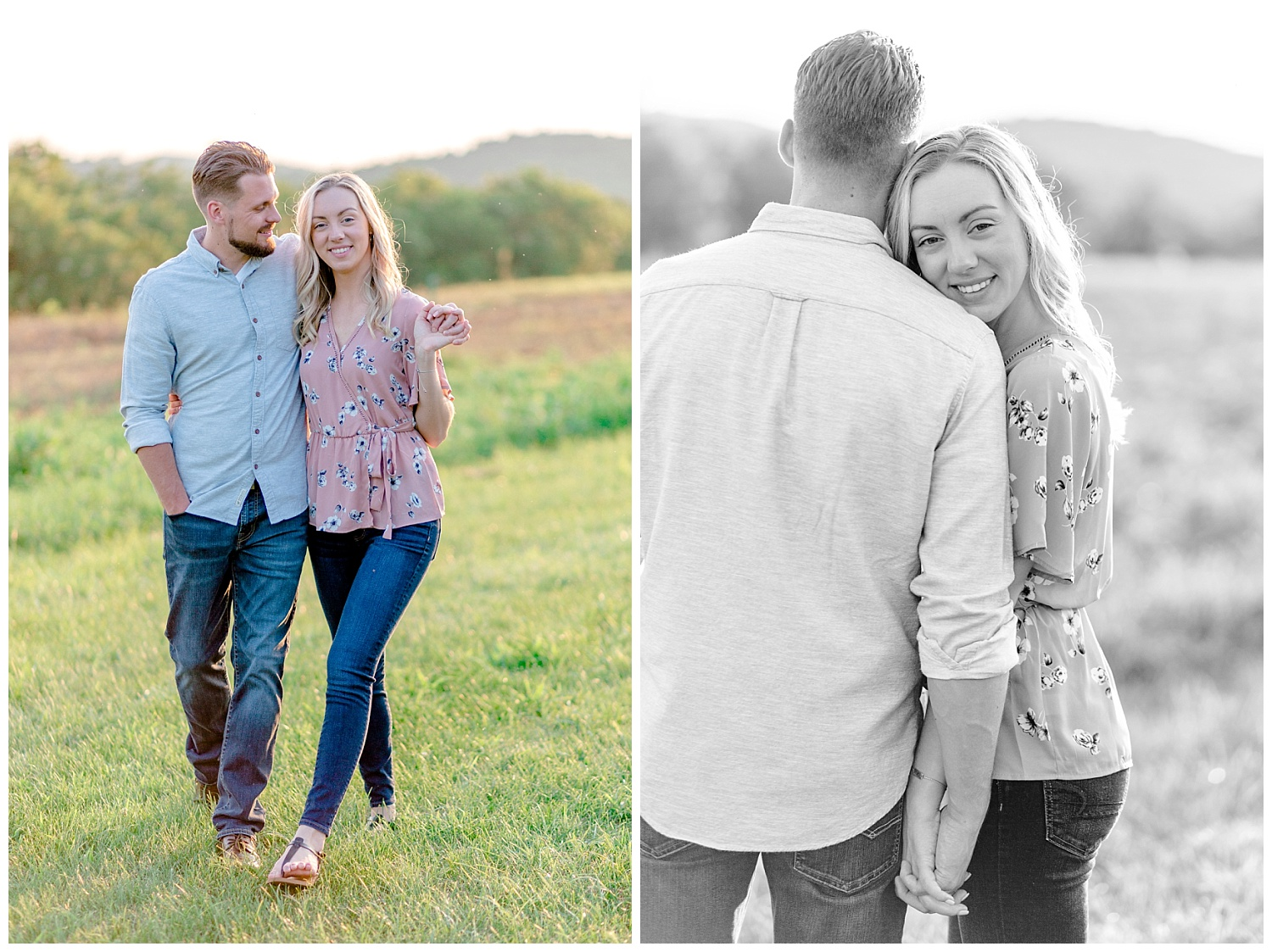 Blue Marsh Lake Reading Pennsylvania flower field golden hour engagement session by PA based wedding and lifestyle photographer Lytle photography_0023.jpg