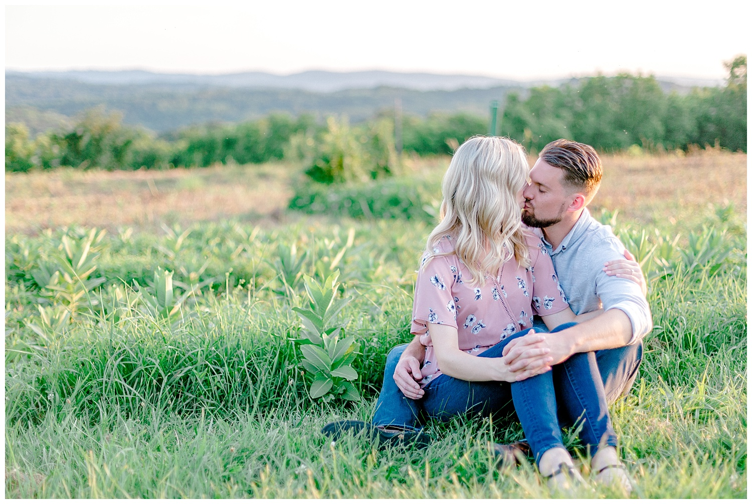 Blue Marsh Lake Reading Pennsylvania flower field golden hour engagement session by PA based wedding and lifestyle photographer Lytle photography_0022.jpg