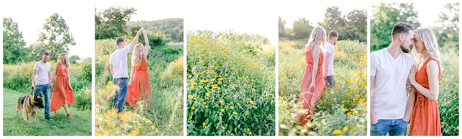 Blue Marsh Lake Reading Pennsylvania flower field golden hour engagement session by PA based wedding and lifestyle photographer Lytle photography_0025.jpg
