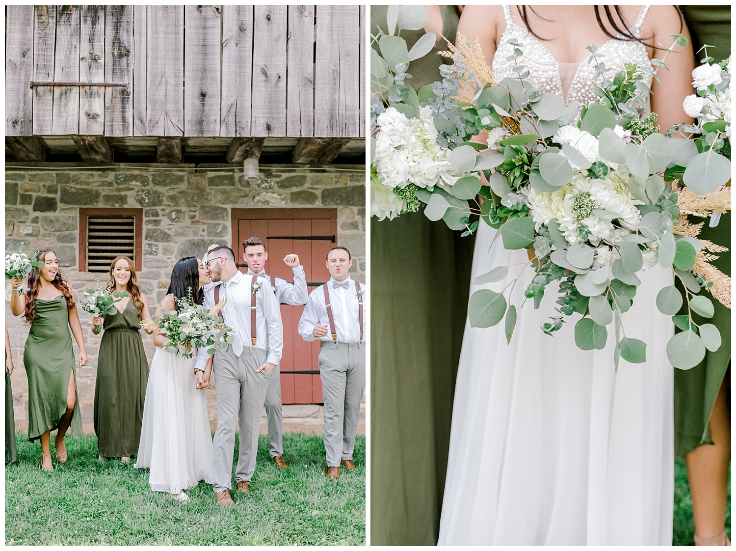 Olive green and white rustic barn wedding at burnside plantation in bethlehem pennsylvania by PA based destination wedding and lifestyle photographer Lytle photography (29).jpg
