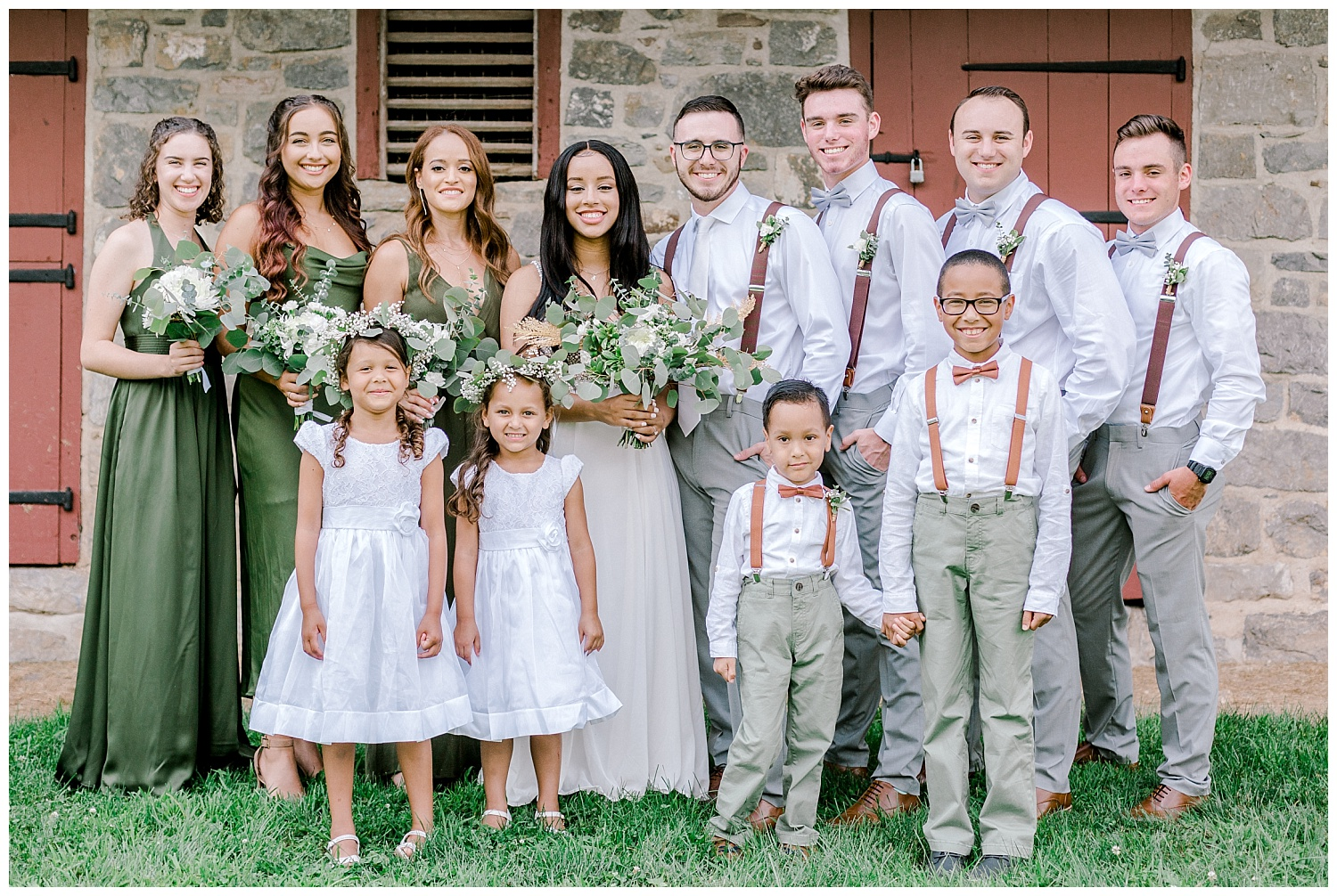 Olive green and white rustic barn wedding at burnside plantation in bethlehem pennsylvania by PA based destination wedding and lifestyle photographer Lytle photography (28).jpg