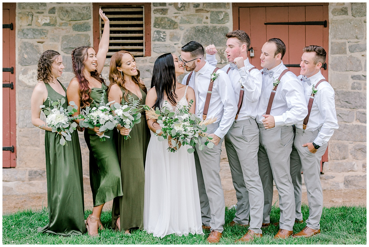 Olive green and white rustic barn wedding at burnside plantation in bethlehem pennsylvania by PA based destination wedding and lifestyle photographer Lytle photography (33).jpg