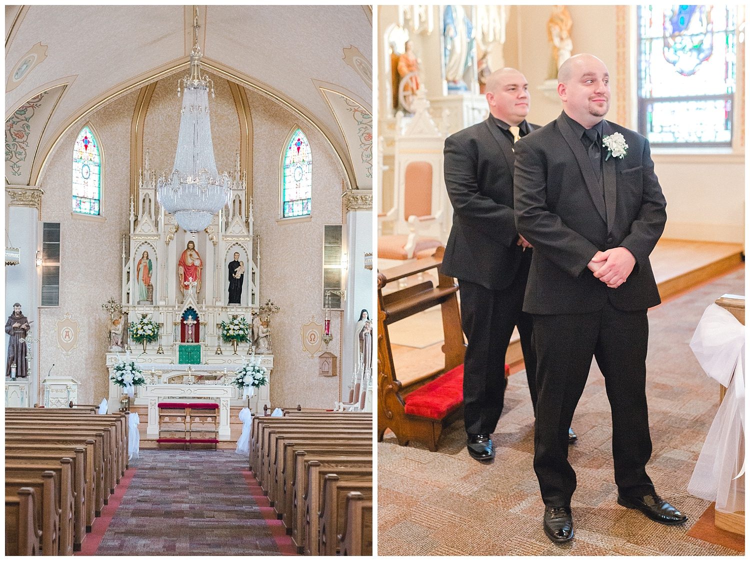 A Black and Gold Catholic Church Wedding in Wilkes Barre Pennsylvania by lehigh valley pennsylvania based wedding and lifestyle photographer Jeannie Lytle of Lytle Photography   Company (13).jpg