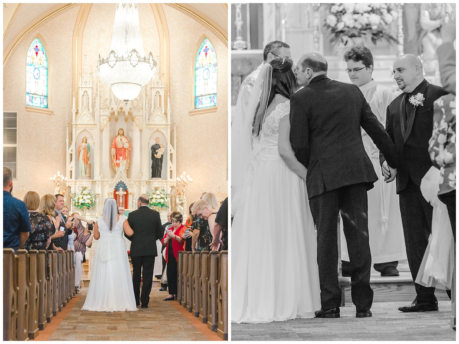 A Black and Gold Catholic Church Wedding in Wilkes Barre Pennsylvania by lehigh valley pennsylvania based wedding and lifestyle photographer Jeannie Lytle of Lytle Photography   Company (15).jpg