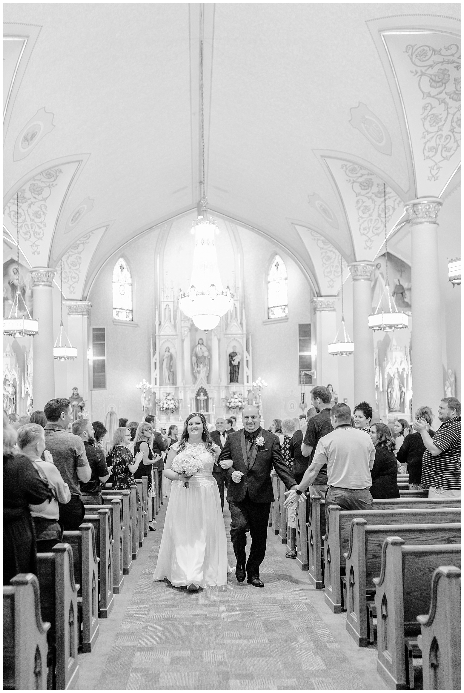 A Black and Gold Catholic Church Wedding in Wilkes Barre Pennsylvania by lehigh valley pennsylvania based wedding and lifestyle photographer Jeannie Lytle of Lytle Photography   Company (19).jpg