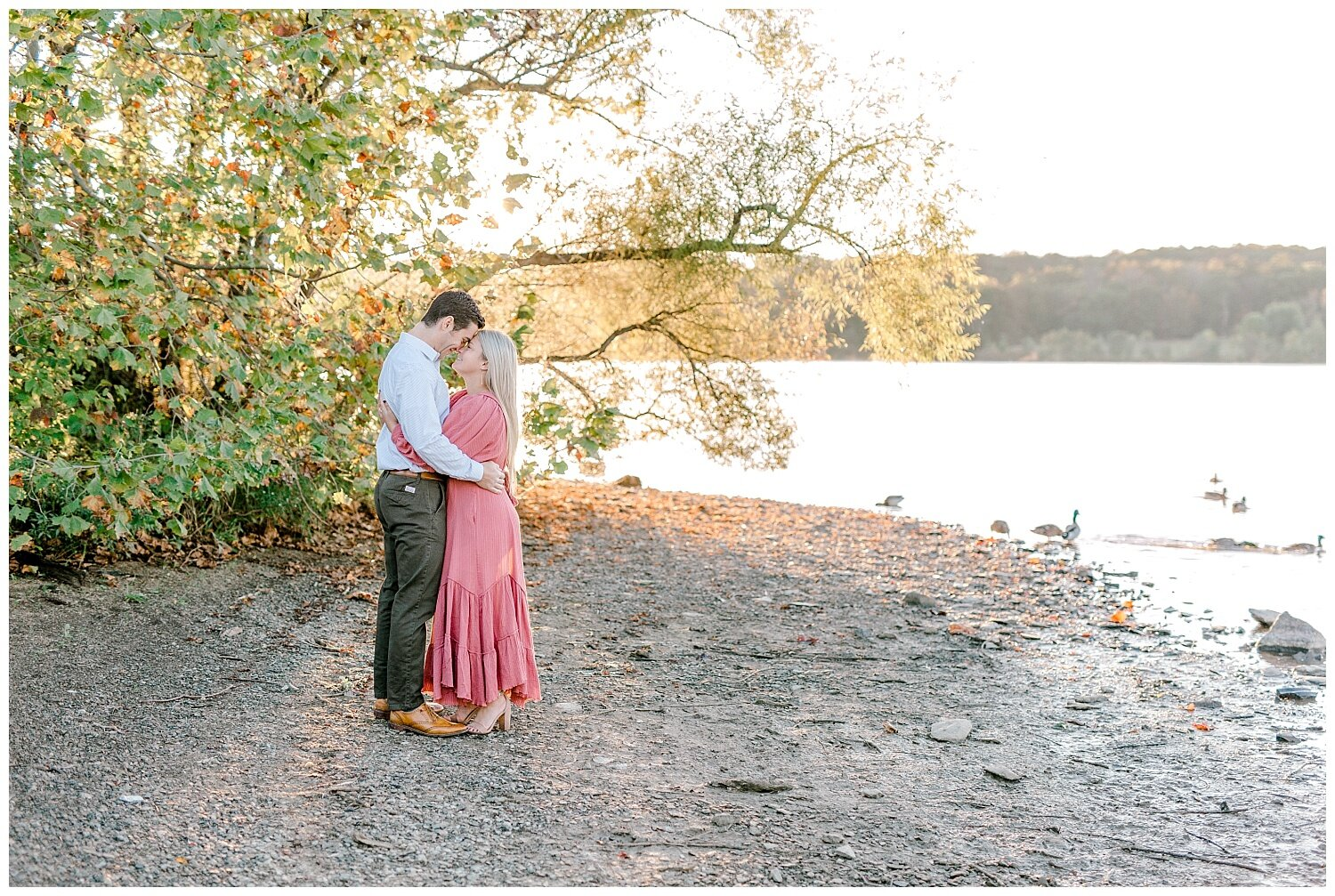 Peace Valley Park Doylestown bucks county PA fall sunrise engagement session  lehigh valley pennsylvania based wedding and lifestyle photographer Jeannie Lytle of Lytle Photography Company_0007.jpg