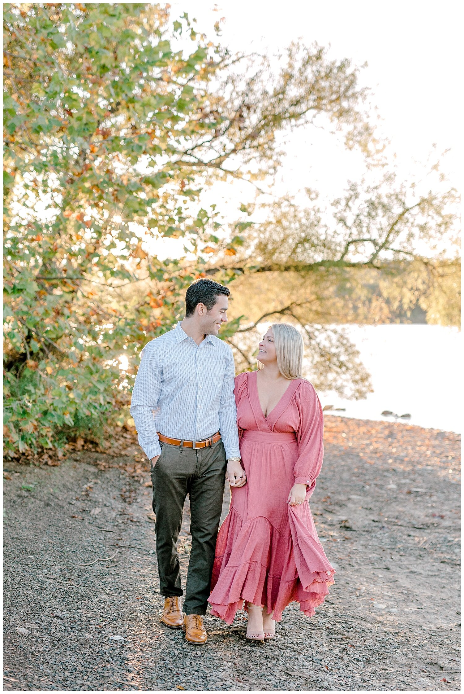 Peace Valley Park Doylestown bucks county PA fall sunrise engagement session  lehigh valley pennsylvania based wedding and lifestyle photographer Jeannie Lytle of Lytle Photography Company_0009.jpg