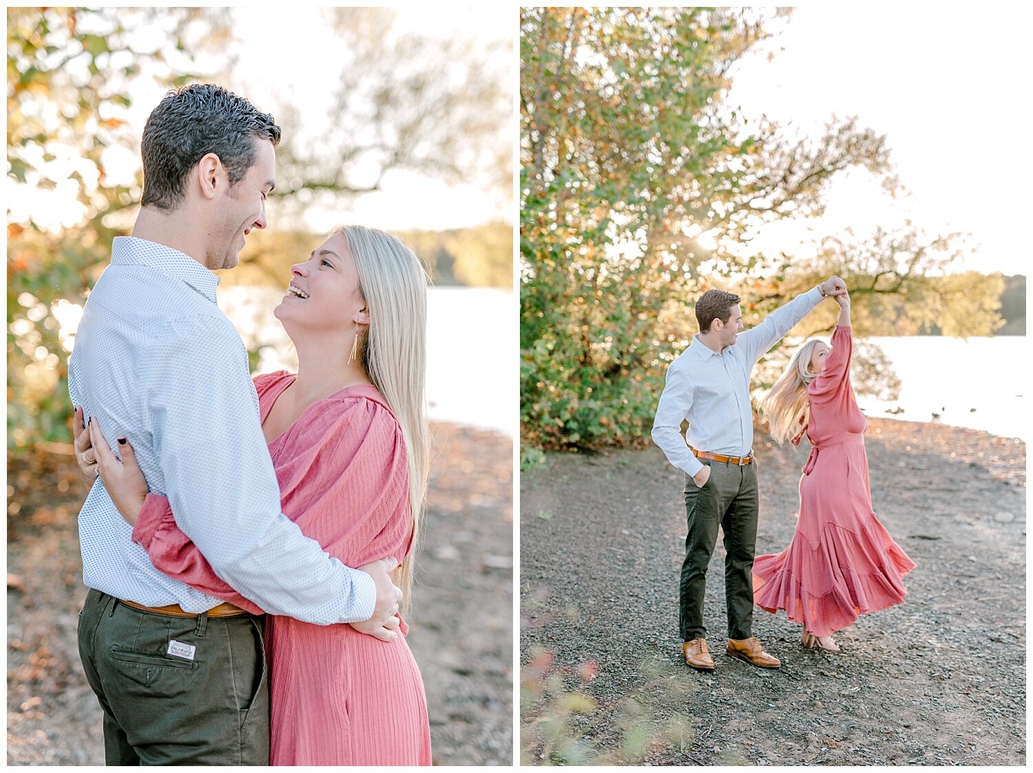 Peace Valley Park Doylestown bucks county PA fall sunrise engagement session  lehigh valley pennsylvania based wedding and lifestyle photographer Jeannie Lytle of Lytle Photography Company_0010.jpg