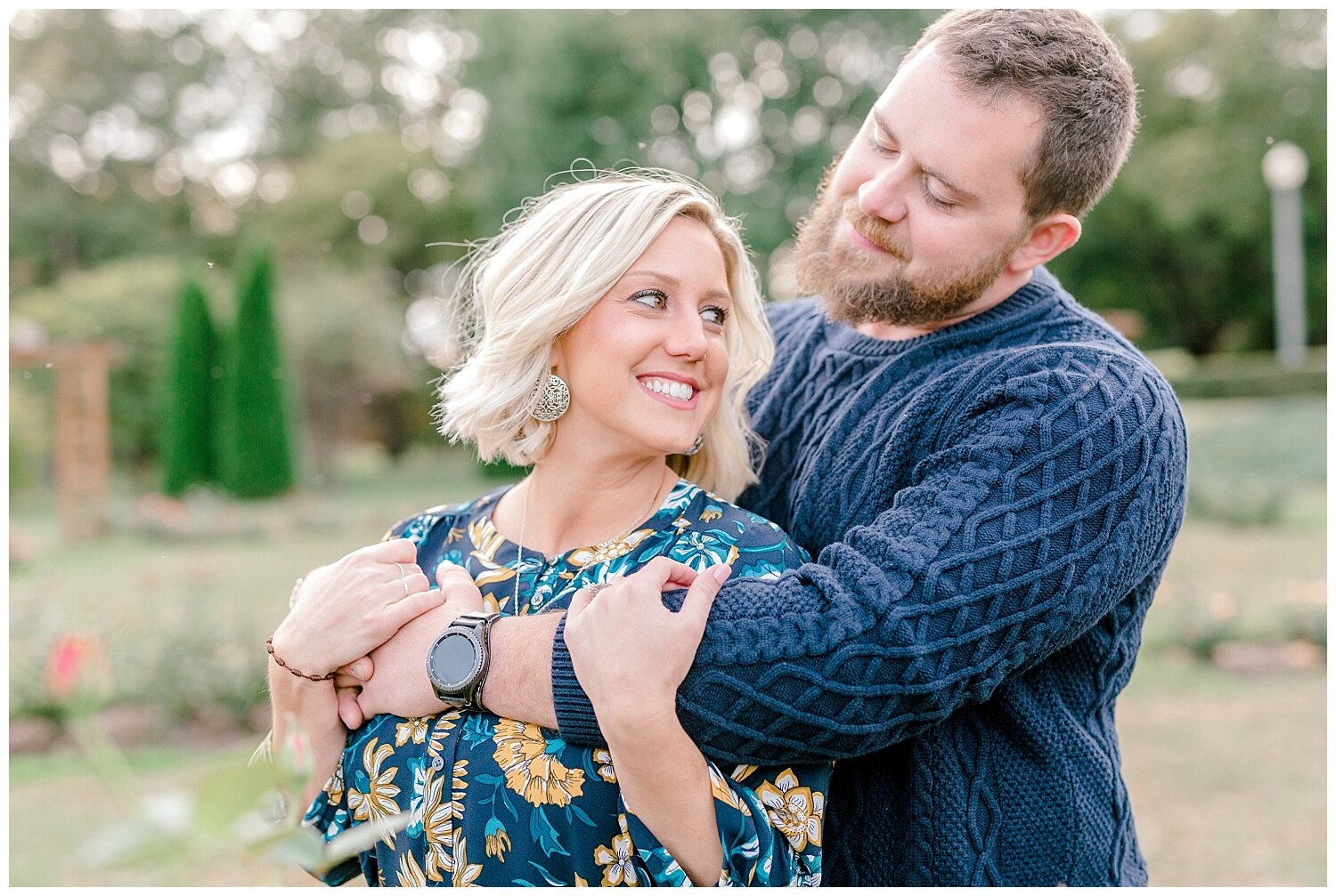 Allentown rose garden sunset engagement session with a tandem bike by lehigh valley pennsylvania based wedding and lifestyle photographer Jeannie Lytle of Lytle Photography Company_0002.jpg