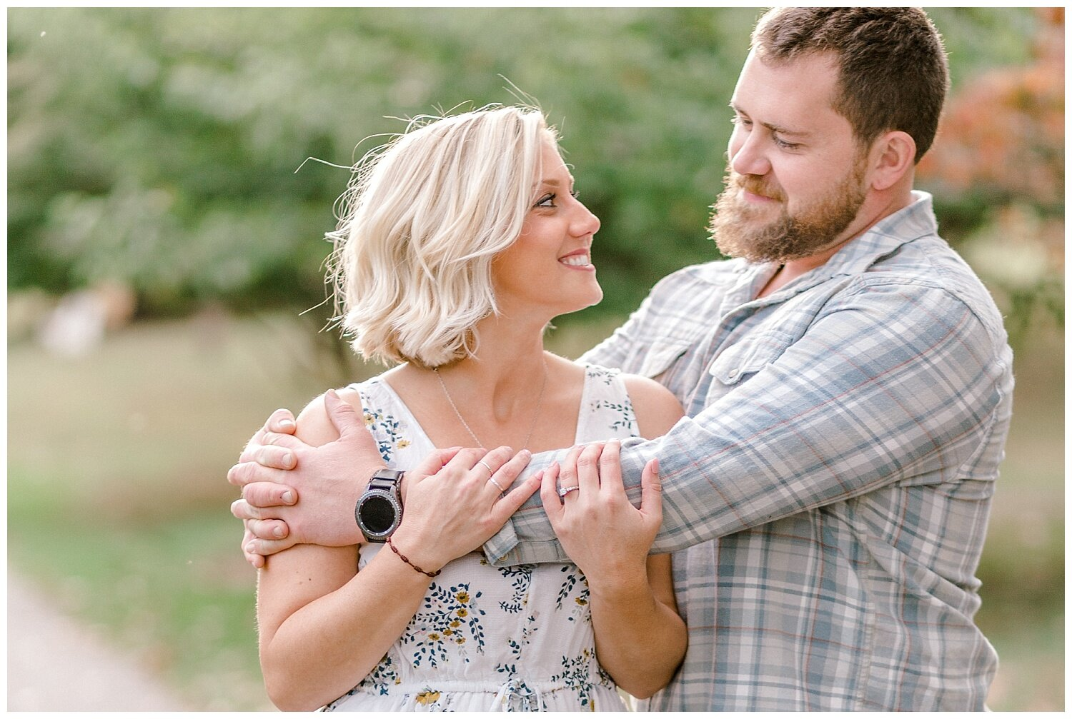 Allentown rose garden sunset engagement session with a tandem bike by lehigh valley pennsylvania based wedding and lifestyle photographer Jeannie Lytle of Lytle Photography Company_0010.jpg