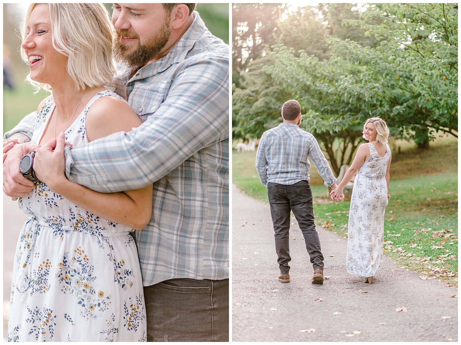 Allentown rose garden sunset engagement session with a tandem bike by lehigh valley pennsylvania based wedding and lifestyle photographer Jeannie Lytle of Lytle Photography Company_0011.jpg