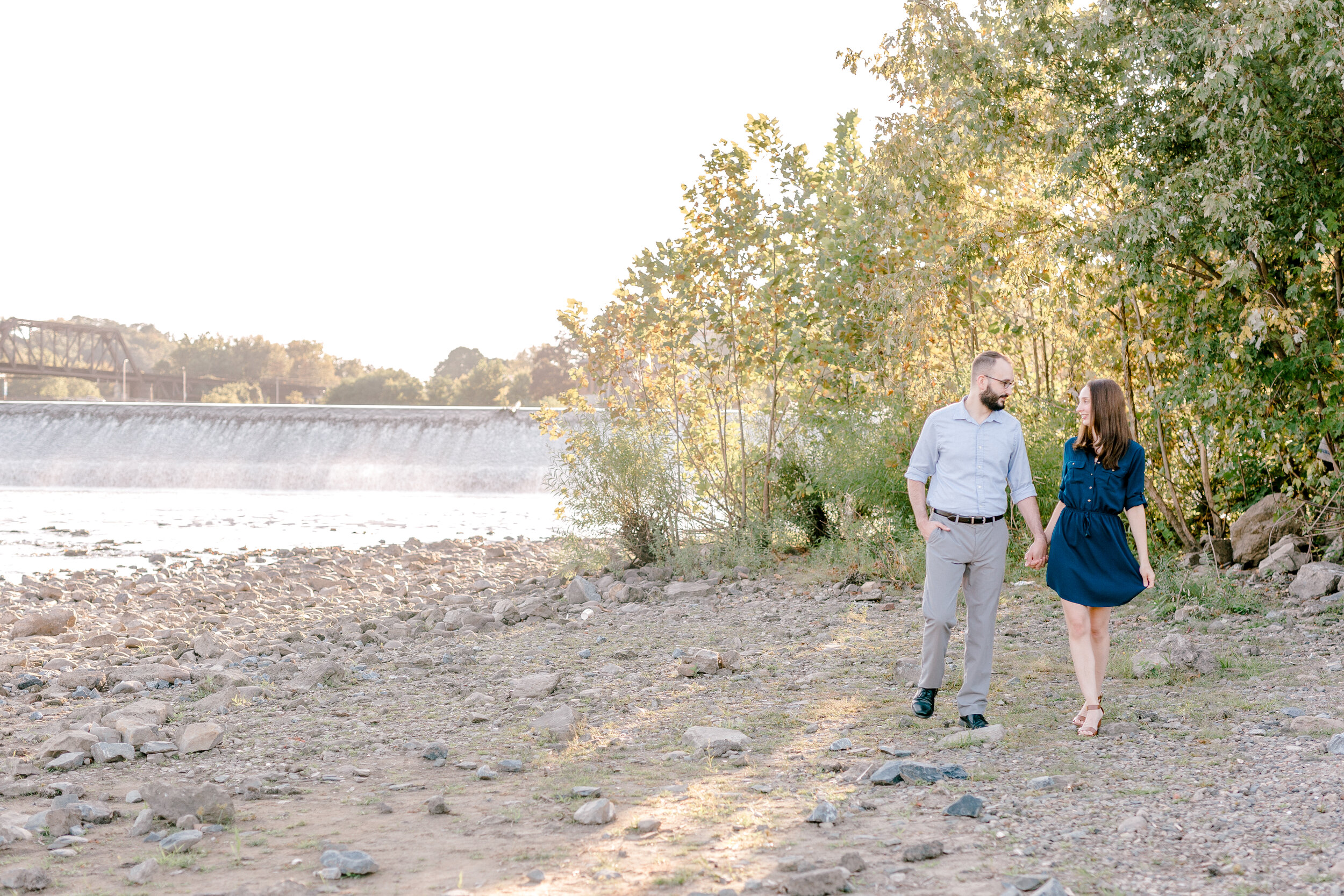 Golden hour downtown easton Pennsylvania fall engagement session by lehigh valley pennsylvania based wedding and lifestyle photographer Jeannie Lytle of Lytle photography company (23 of 118).jpg