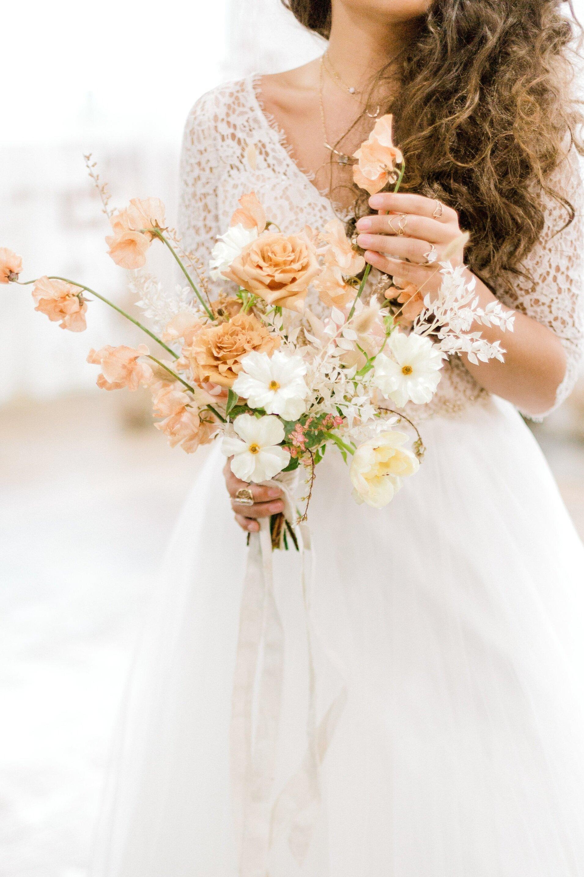 Neutral floral inspired styled bridal studio shoot fox and finch studios bethlehem pennylvania wedding photographer (54 of 155).jpg