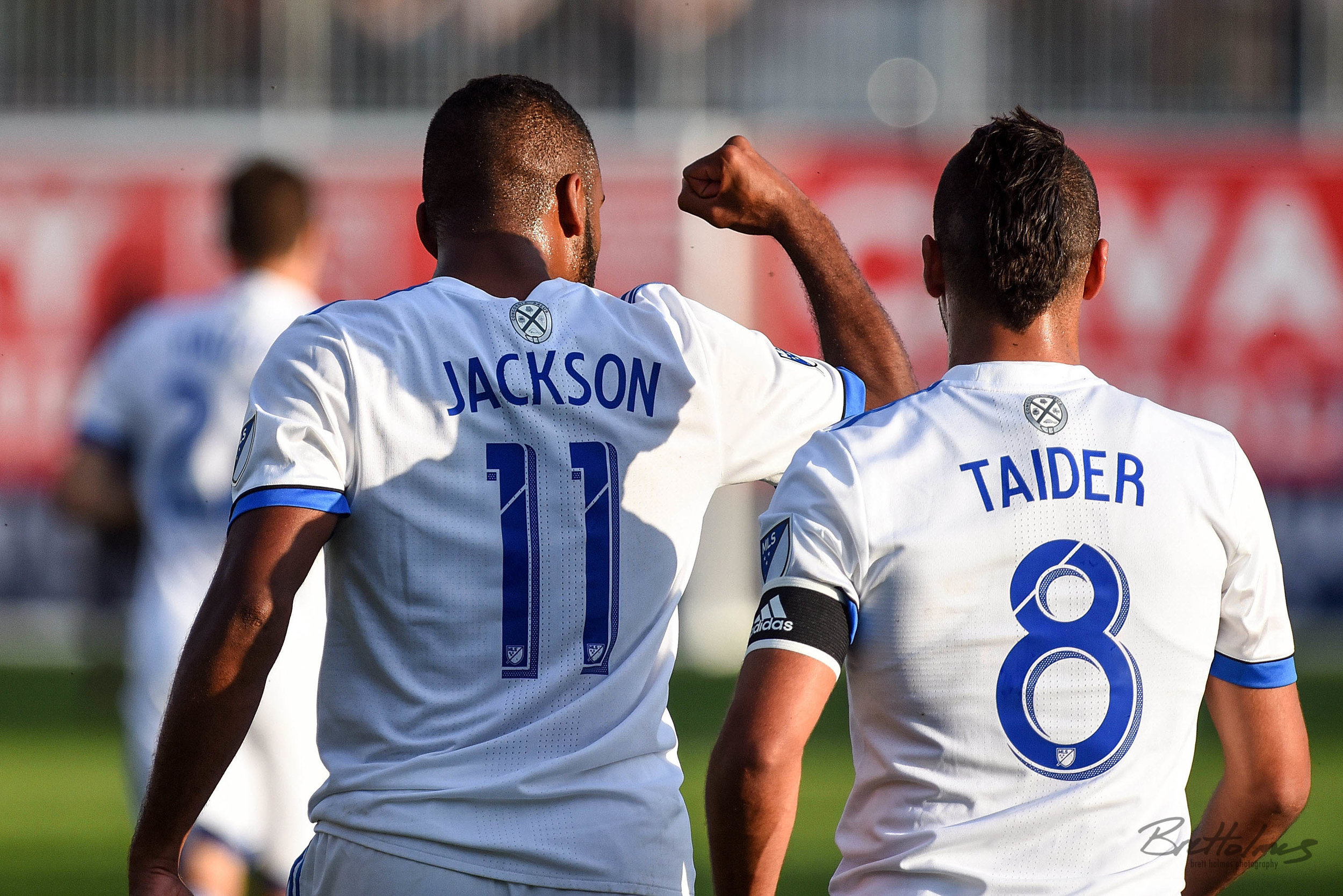 CALGARY, AB - AUGUST 14: Montreal Impact forward Anthony Jackson-Hamel (11) pumps his fist after scoring a goal during the first half of the second leg of a Canadian Championship semifinal match between the Montreal Impact and Cavalry FC on August 14, 2019, at ATCO Field at Spruce Meadows in Calgary, AB. (Photo by Brett Holmes/Icon Sportswire)