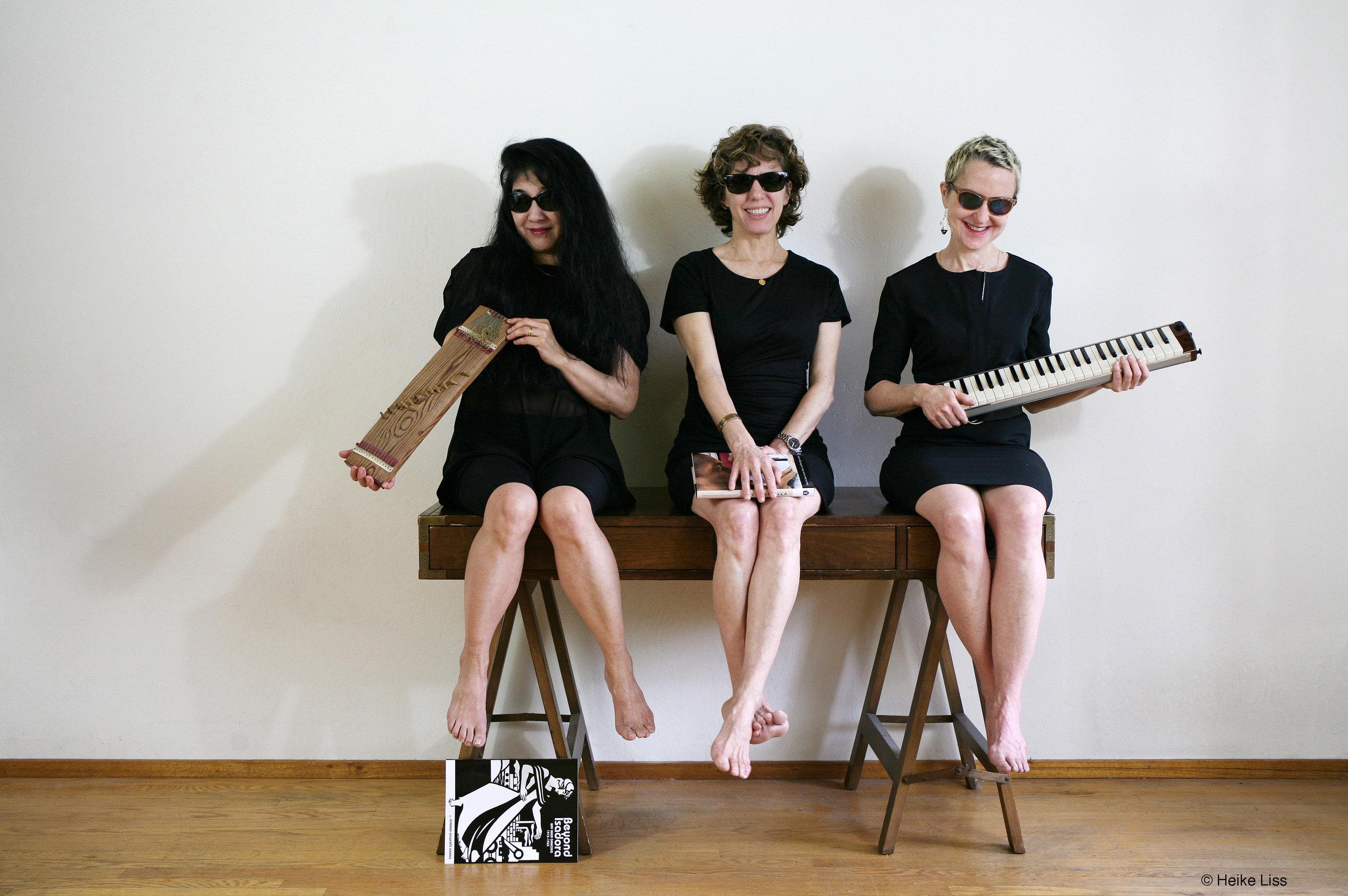 MZM: Miya Mazaoka, Zeena Parkins, Myra Melford © Heike Liss,