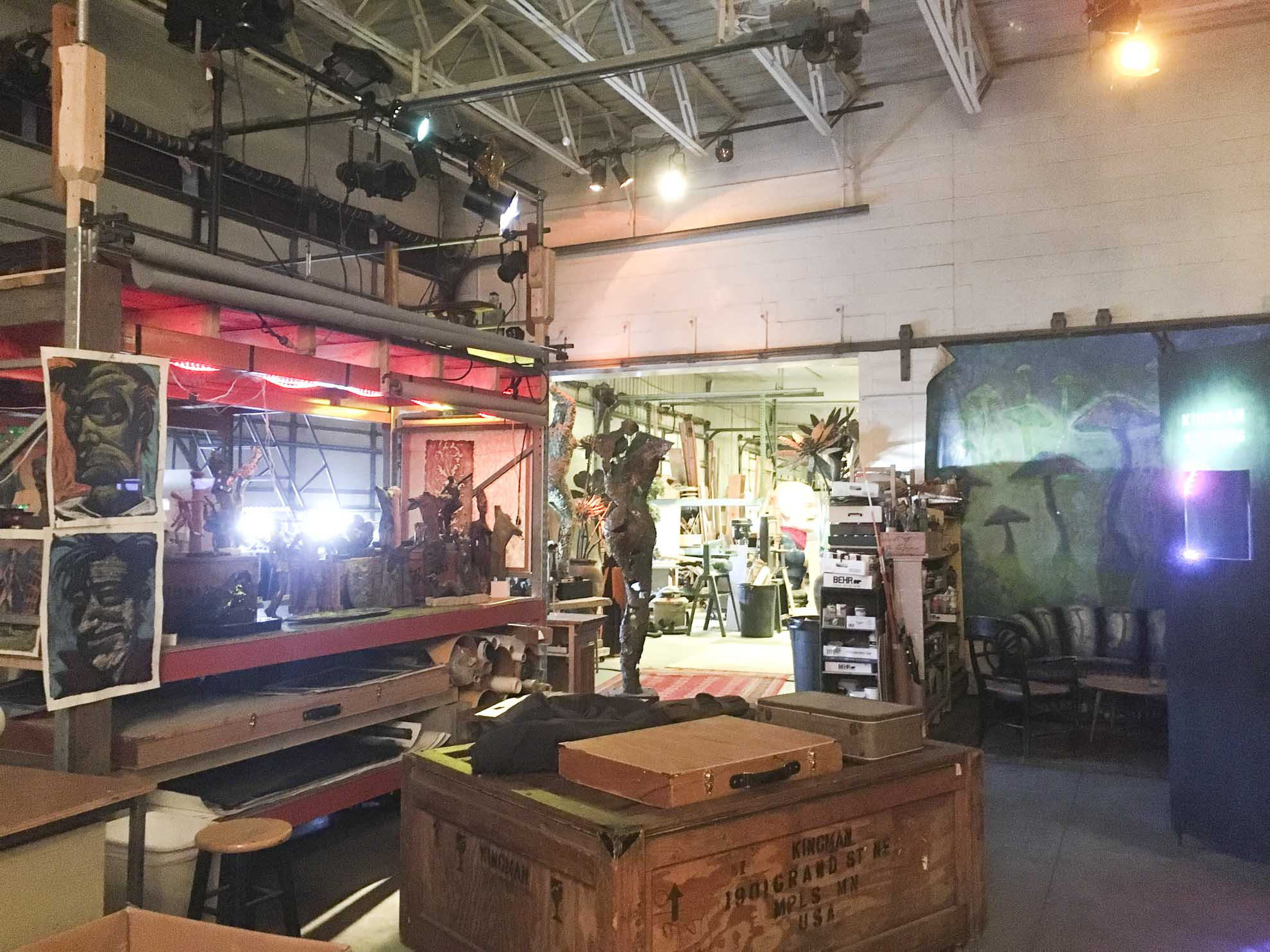 a view of Brant's studio space