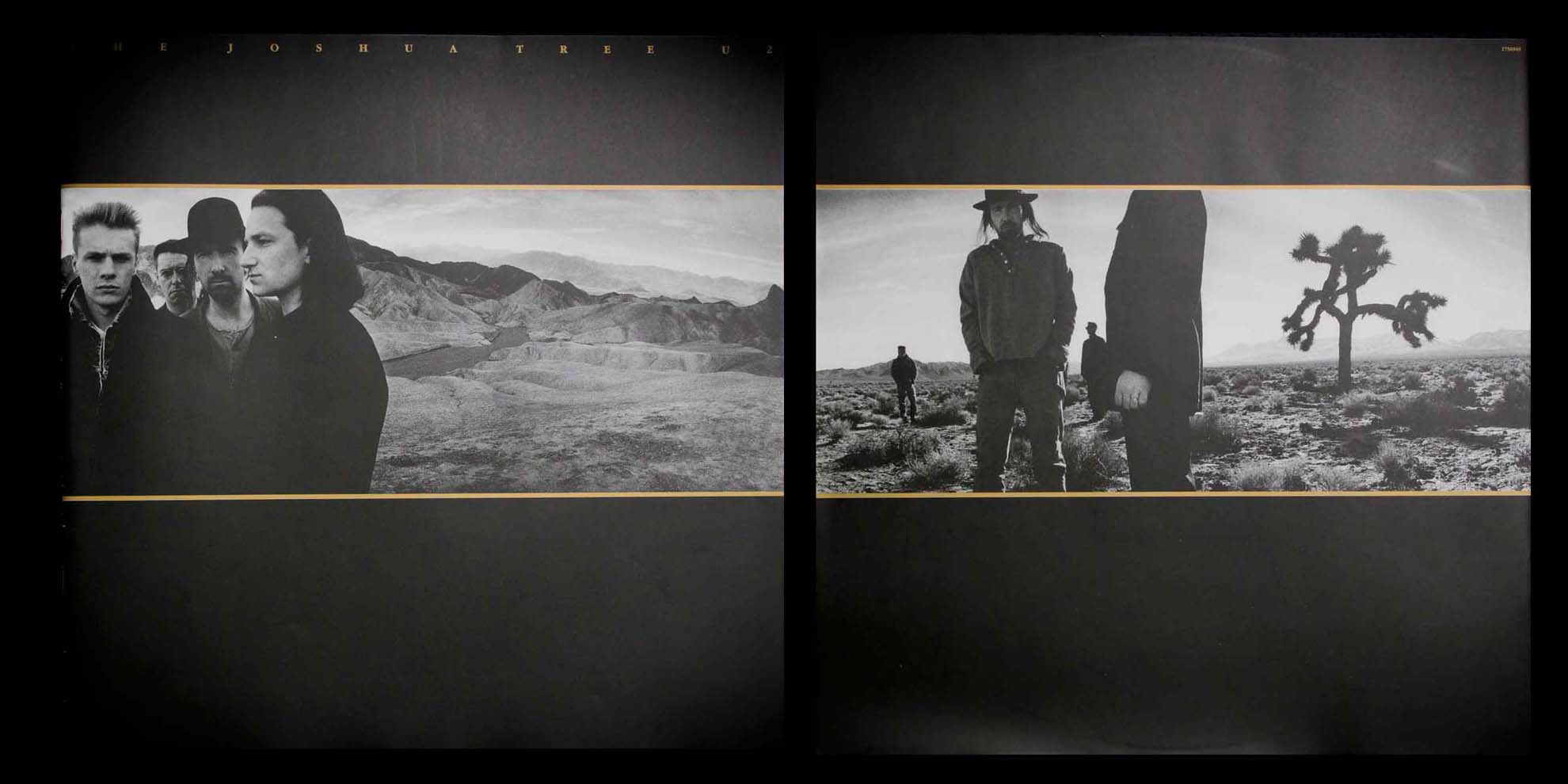 The Joshua Tree  album cover (front and back), U2