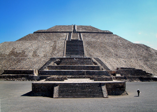 Steps on the Pyramid of the Sun, Teotihuacan