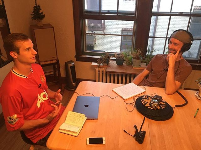 Recording the inaugural Idealect podcast with the one and only @kylehilding Talking about the practicality of beliefs, exploring truth through curiosity, tribalism, empathy and other topics. #greatconversations #mindfulness #holyshitmoments #friends #podcast #empathy