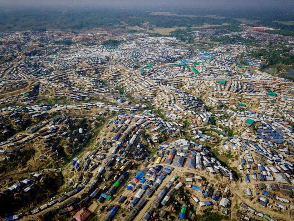 Kutupalong refugee camp - Housing over 545,000 Rohingya refugees