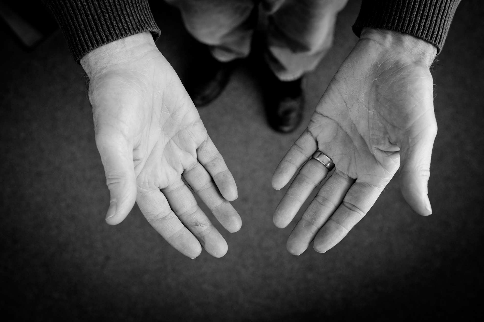George Roberts hand portrait