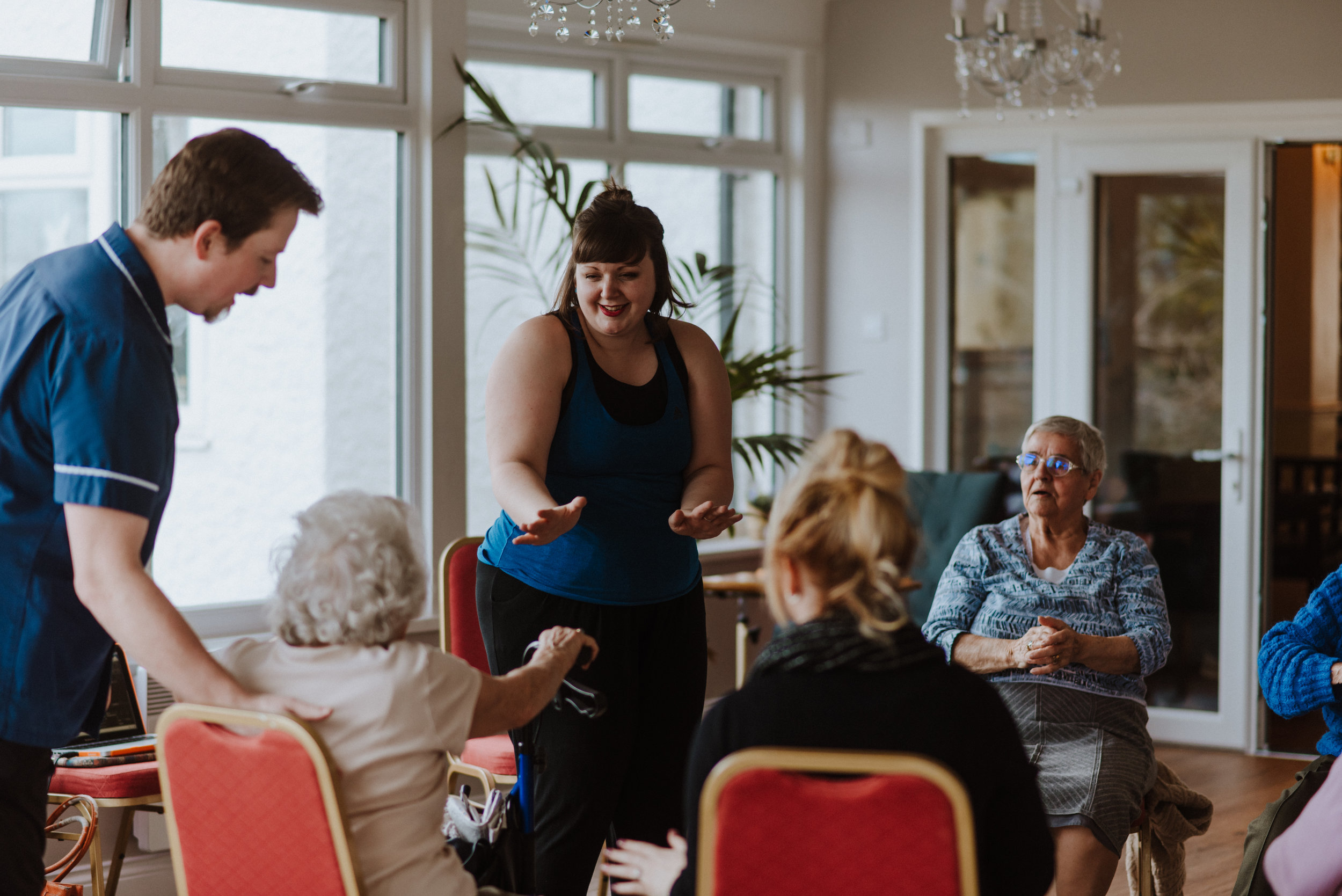 join the circle sessions promote bonds between care staff and residents