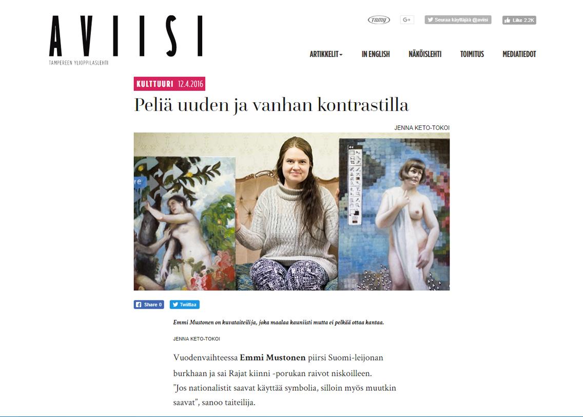 """""""Peliä uuden ja vanhan kontrastilla"""" - Aviisi 12.4.2016"""