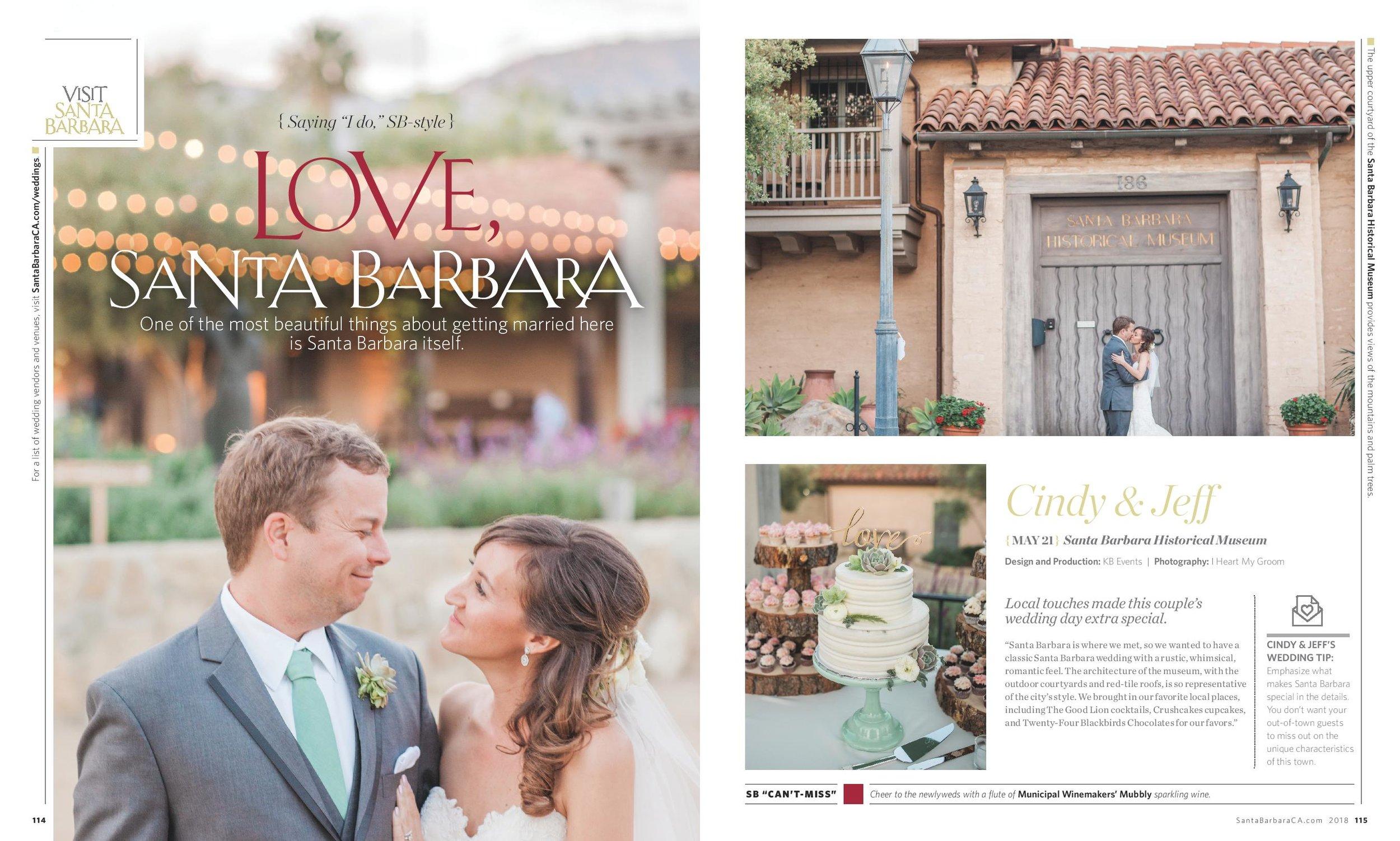 Santa Barbara Wedding - Visit Santa Barbara - Santa Barbara Magazine - KB Events