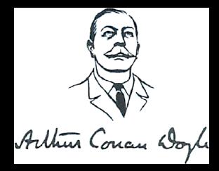 Logo showing Arthur Conan Doyle