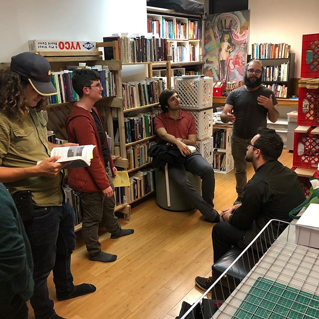 Last night, Will You Be My Primate? Harvest Edition.  A visit to the Cybernetics  Library with Seeds to Soil designer and architect, David Hecht. Great way to spend the evening on the Harvest Moon. #harvestmoon #hellskitchen #fallinnewyork #cyberneticslibrary