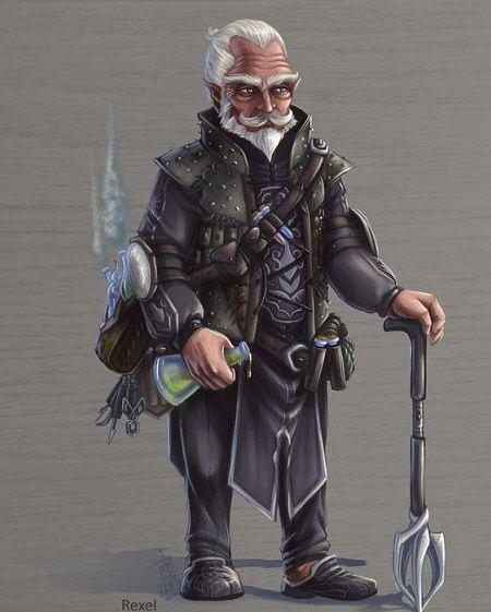 Barnaby Hardcastle, the Third   Player: Michael Miller  Utilizing the Gnome and  Relic Hunter of the Seeker Homebrew Class  .