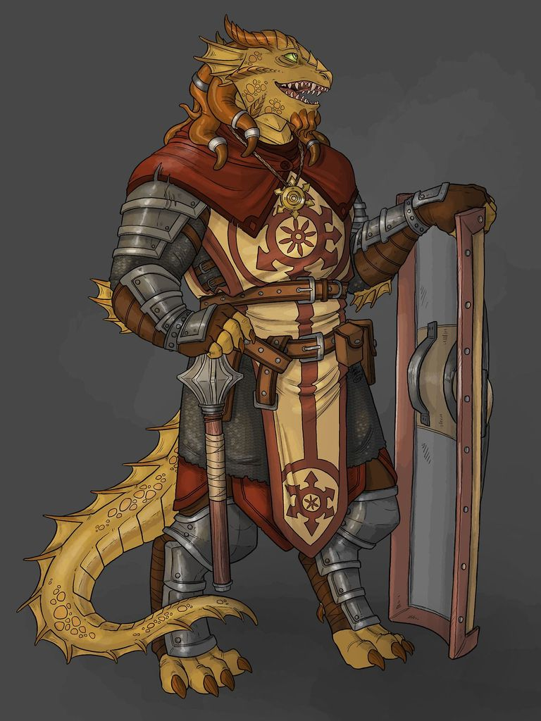 Alsafhat  Played by David Campbell  Brass Dragonborn, Life Cleric