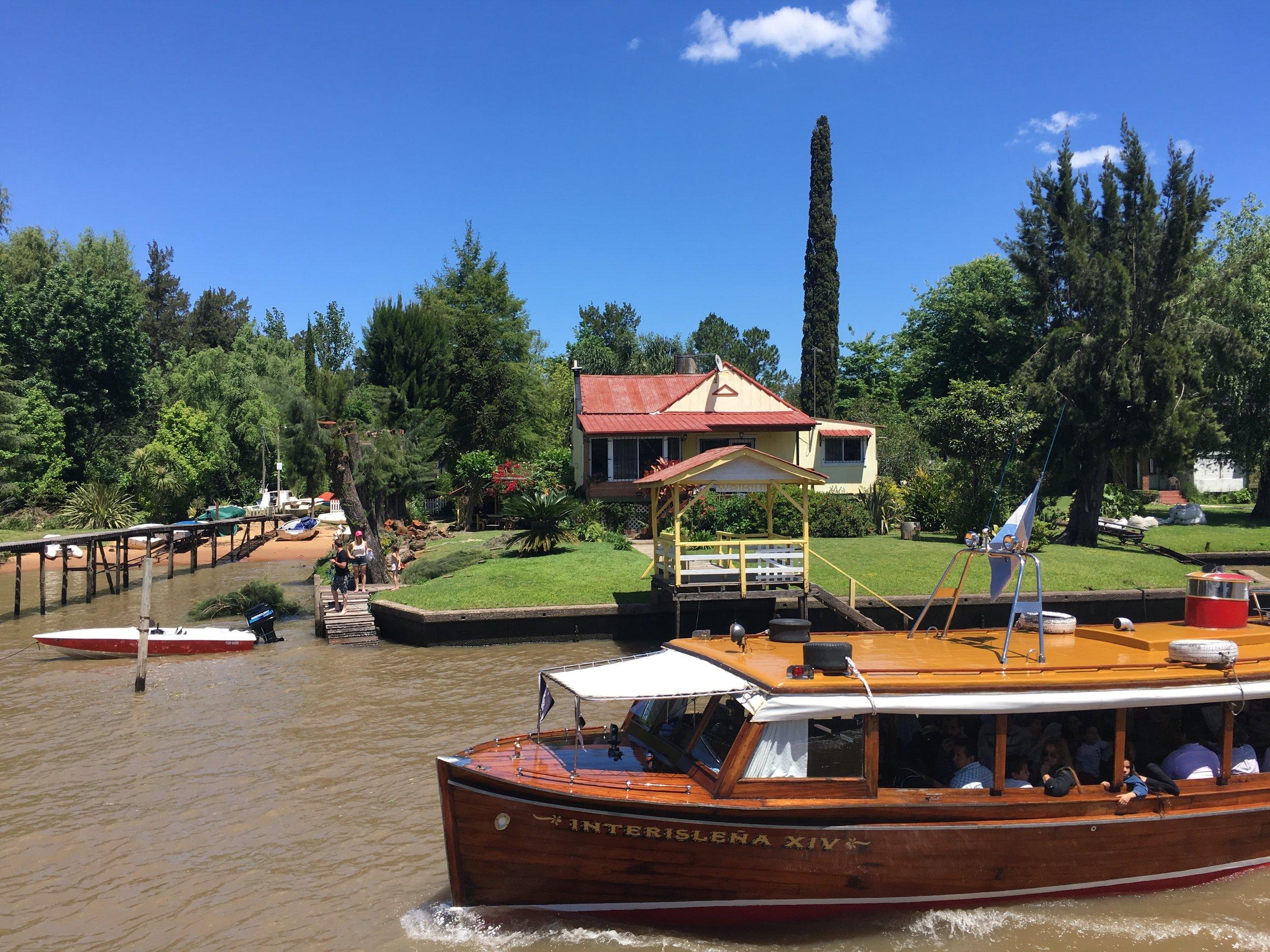 tigre argentina casa barco